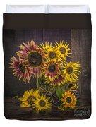 Old Sunflowers Duvet Cover