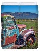 Old Taos Pickup Truck Duvet Cover