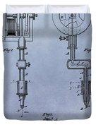 Old Tattoo Gun Patent Duvet Cover