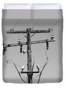 Old Telephone Pole Duvet Cover