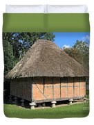 Old Thatched Barn Britain Duvet Cover