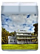 Old Thursby Plantation House Two Duvet Cover