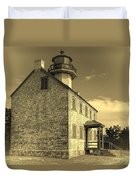 Old Time East Point Light Duvet Cover