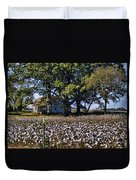 Old Time Farm And Cotton Fields Duvet Cover