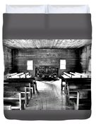 Old Time Religion -- Cades Cove Primitive Baptist Church Duvet Cover by Stephen Stookey
