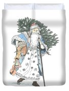 Old Time Santa With Violin2 Duvet Cover