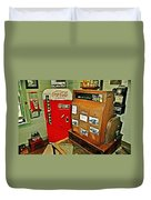 Old Time Station Duvet Cover by Marty Koch