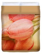 Old Time Tulips Duvet Cover