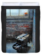 Old Tool Box Lonaconing Silk Mill Duvet Cover