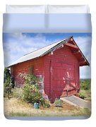 Old Tool Shed Red Barn Duvet Cover