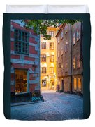 Old Town Alley Duvet Cover