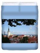 Old Town And Harbor - Tallinn Duvet Cover