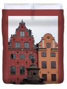 Old Town Architecture Duvet Cover
