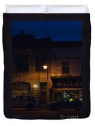 Old Town At Night Duvet Cover
