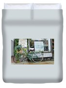 Old Town Bike Stop Duvet Cover