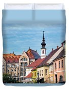 Old Town Buildings In Budapest Duvet Cover