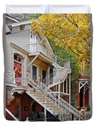 Old Town Chicago Living Duvet Cover