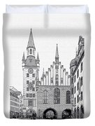 Old Town Hall - Munich - Germany Duvet Cover by Christine Till