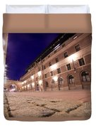 Old Town In Stockholm At Night Duvet Cover