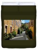 Old Town Of Valbonne France  Duvet Cover by Christine Till