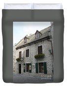 Old Town Quebec Canada Duvet Cover