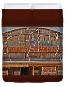 Old Town Saloon Duvet Cover