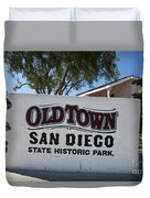 Old Town San Diego State Historic Park Duvet Cover