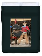 Old Town Scottsdale Cowboy Sign Duvet Cover