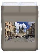 Old Town Square Prague Czech Republic  Duvet Cover