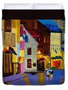 Old Towne Quebec Duvet Cover