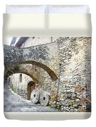 Old Towns Of Tuscany San Gimignano Italy Duvet Cover