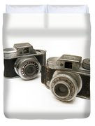 Old Toy Cameras Duvet Cover