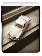Old Toy Car On The Window Sill Duvet Cover