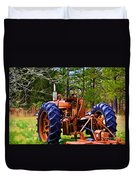 Old Tractor Digital Paint Duvet Cover