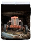 Old Tractor Face Duvet Cover by Gary Heller