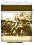 Old Tractors Duvet Cover