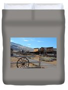 Old Trail Town   Duvet Cover