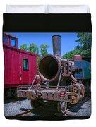 Old Train Engine Duvet Cover