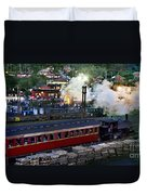 Old Train In The Village - Paranapiacaba Duvet Cover