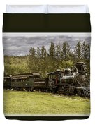 Old Train Steam Engine At The Fort Edmonton Park Duvet Cover