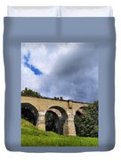 Old Train Viaduct In Poland Duvet Cover