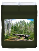 Old Tramway In Canyon City  Miles Canyon Trail Near Whitehorse-yk Duvet Cover