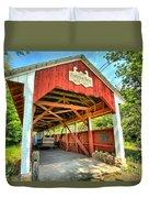 Old Trostle Town Bridge Duvet Cover