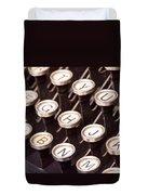 Old Typewriter Keys Duvet Cover