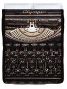 Old Typewriter Duvet Cover