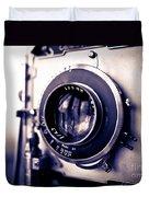 Old Vintage Press Camera  Duvet Cover