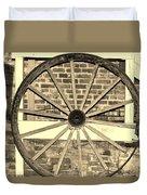 Old Wagon Wheel 1 Duvet Cover