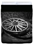 Old Wagon Wheels Duvet Cover