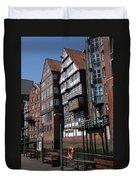 Old Warehouses Port Of Hamburg  Duvet Cover
