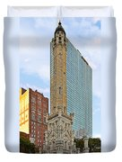 Old Water Tower Chicago Duvet Cover